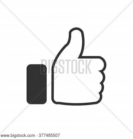 Like Icon. Like Icon Vector Illustration. Like Icon Isolated On White Background. Thumbs Up The Icon
