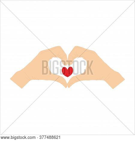 Human Hand Gestures Isolated On A White Background. Vector Flat Illustration Of Women S Hands In The