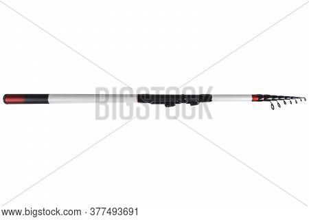 Fishing Rod Spinning Ring With Close-up. Fishing Rod. Rod Rings Isolated On White Background With Cl