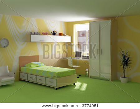 childroom interior modern design ( 3D image ) poster