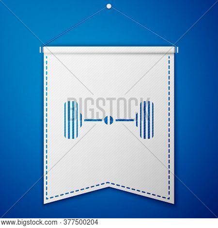Blue Chassis Car Icon Isolated On Blue Background. White Pennant Template. Vector Illustration