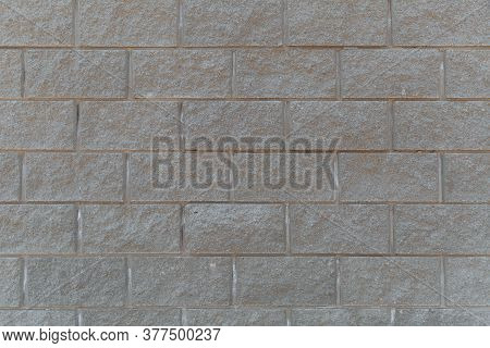 Abstract Background From White Brick Pattern Wall. Brickwork Texture Surface For Background. Texture