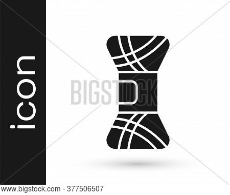 Grey Yarn Icon Isolated On White Background. Label For Hand Made, Knitting Or Tailor Shop. Vector Il