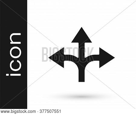 Grey Road Traffic Sign. Signpost Icon Isolated On White Background. Pointer Symbol. Isolated Street
