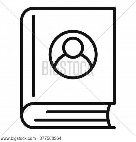 Storyteller Shop Book Icon. Outline Storyteller Shop Book Vector Icon For Web Design Isolated On Whi