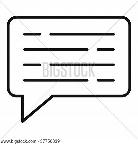 Storyteller Article Chat Icon. Outline Storyteller Article Chat Vector Icon For Web Design Isolated