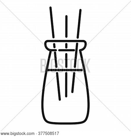 Ayurveda Smell Sticks Icon. Outline Ayurveda Smell Sticks Vector Icon For Web Design Isolated On Whi