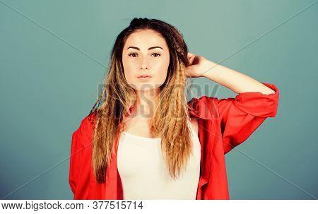 Self Care. Extra Volume. Hair Crimping Method Styling Hair. Crimped Hairstyle. Girl Stylish Hairstyl