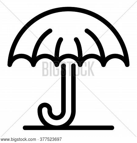 Trader Umbrella Icon. Outline Trader Umbrella Vector Icon For Web Design Isolated On White Backgroun