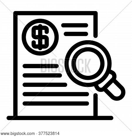 Trader Money Document Icon. Outline Trader Money Document Vector Icon For Web Design Isolated On Whi