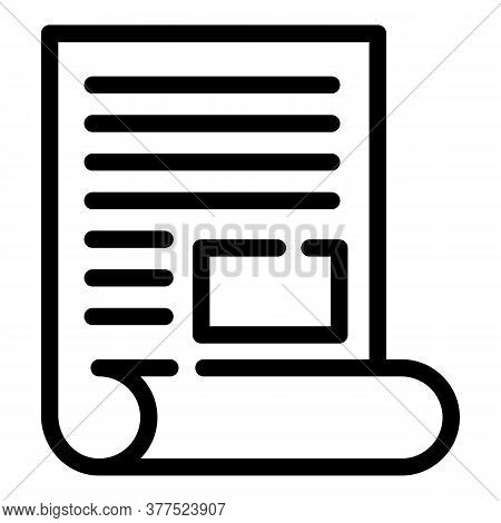 Broker Documents Icon. Outline Broker Documents Vector Icon For Web Design Isolated On White Backgro
