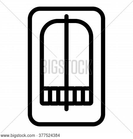 Mouse Wood Animal Trap Icon. Outline Mouse Wood Animal Trap Vector Icon For Web Design Isolated On W