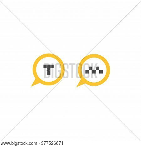 Map Pin With Taxi Car Signs Set. Taxi Service Vector Icon. Taxi Map Pointer, Taxi Signs.