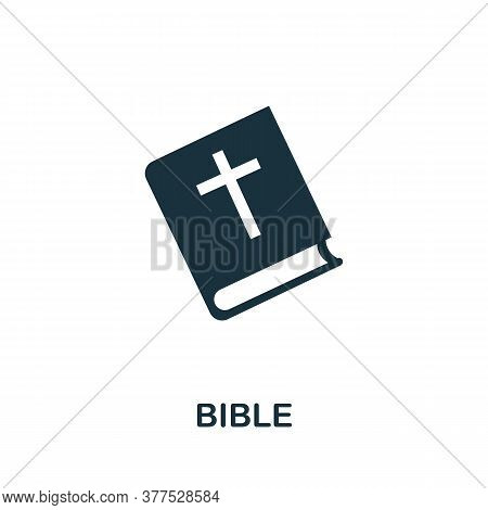 Bible Icon. Simple Element From Religion Collection. Creative Bible Icon For Web Design, Templates,