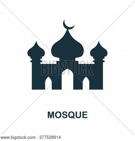 Mosque Icon. Simple Element From Religion Collection. Creative Mosque Icon For Web Design, Templates