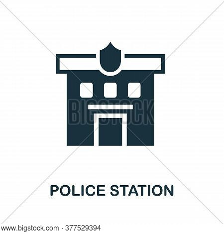 Police Station Icon. Simple Element From Police Collection. Creative Police Station Icon For Web Des