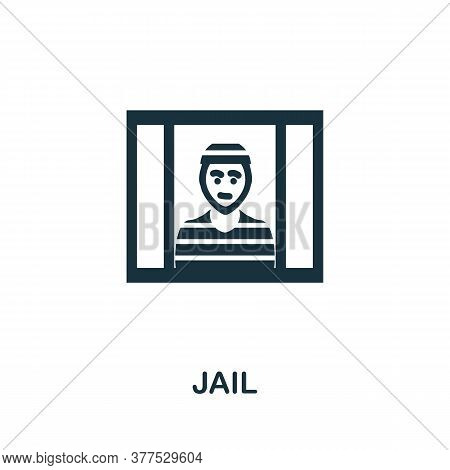 Jail Icon. Simple Element From Police Collection. Creative Jail Icon For Web Design, Templates, Info