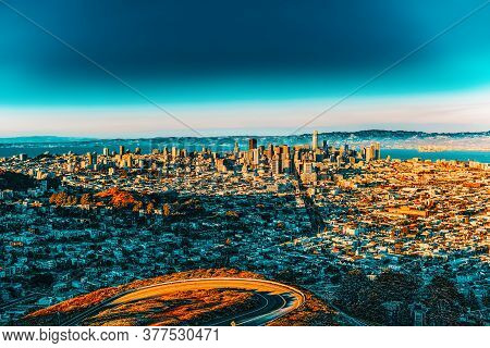 Panoramic View Of The San Francisco City.