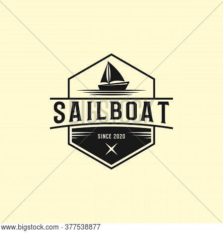 Creative Sailboat Logo Designs, Yacht Clubs Logo Vector Illustrations