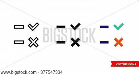 Attendance Icon Of 3 Types. Isolated Vector Sign Symbol.