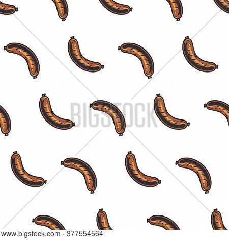 Seamless Pattern Of Barbeque Bbq Grill Sausage