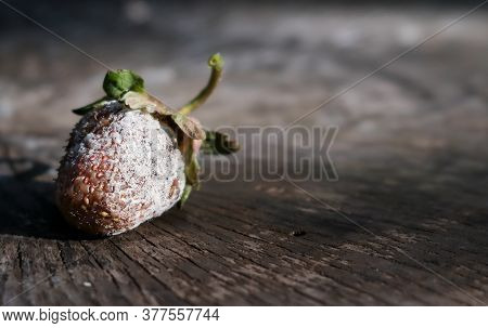 Moulded Strawberry Berries On A Wooden Background.