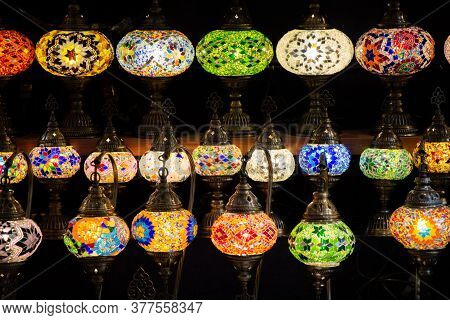 Mosaic Colorful Ottoman Lamps  Lanterns In The View