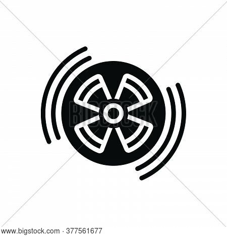 Black Solid Icon For Radiation Radiation-sign Eradiation Therapy Caution Circle Danger Hazard Radioa