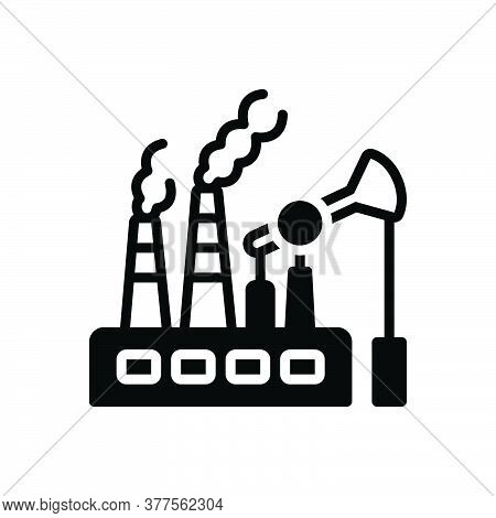 Black Solid Icon For Fossil-fuels Fuel Pump Environment Biofuel Power Pollution Gasoline Ecology Smo