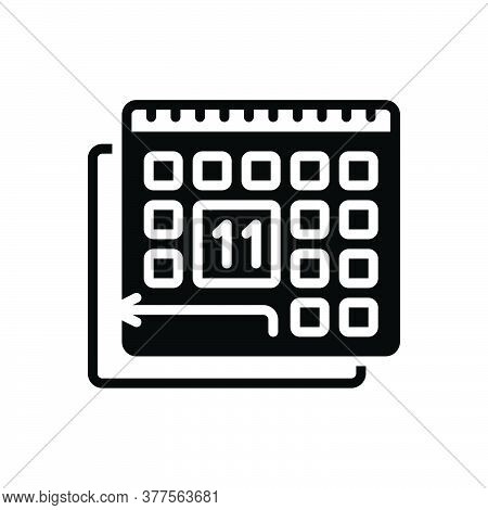 Black Solid Icon For Pto Paid-time-off Policy Calendar  Regardful Deferent Appointment Please-turn-o