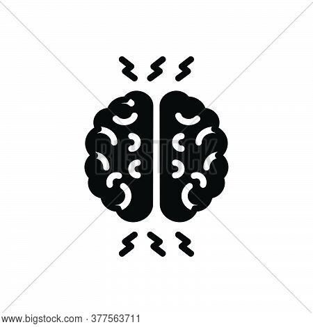 Black Solid Icon For Ptsd Post-traumatic-stress-disorder Symptoms Mind Health Anxiety-disorder Brain