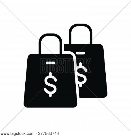 Black Solid Icon For Shopping Supermarket Bag Shopping-bag Store Online Ecommerce Purchase Purchase