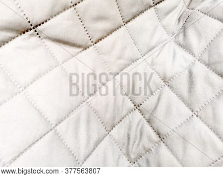 Quilted Grey Veil Woven Fabric Texture Background