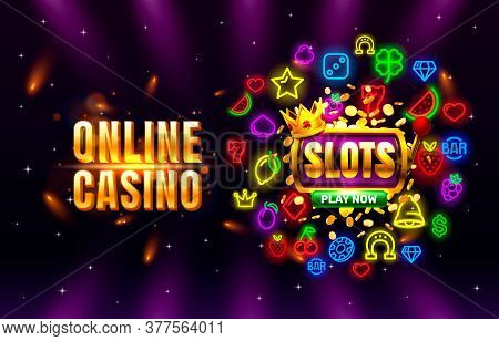Casino Online Play Now Slots Golden Coins, Casino Slot Sign Machine, Night Jackpot Vegas.