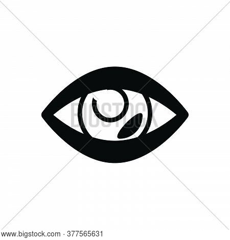 Black Solid Icon For Vision See View Look Sight Watch Eyesight Peep Eyeball