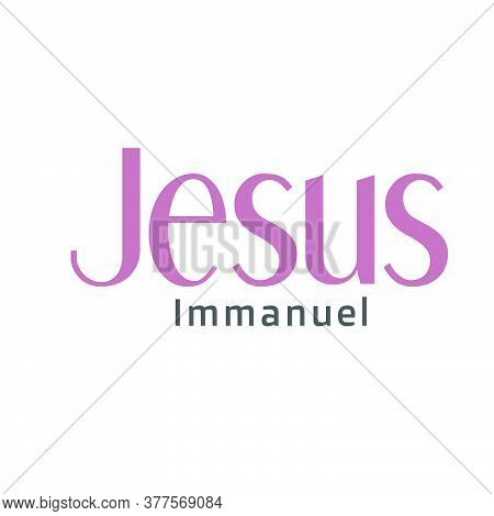 Jesus, Typography For Print Or Use As Poster, Card, Flyer Or T Shirt