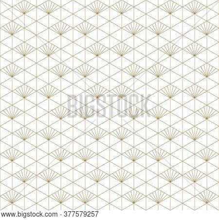 Beautiful Seamless Japanese Pattern Kumiko For Shoji Screen, Great Design For Any Purposes. Japanese