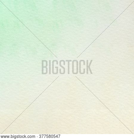 Green And Brown Watercolor Background, Watercolour Painting Soft Textured On Wet White Paper Backgro