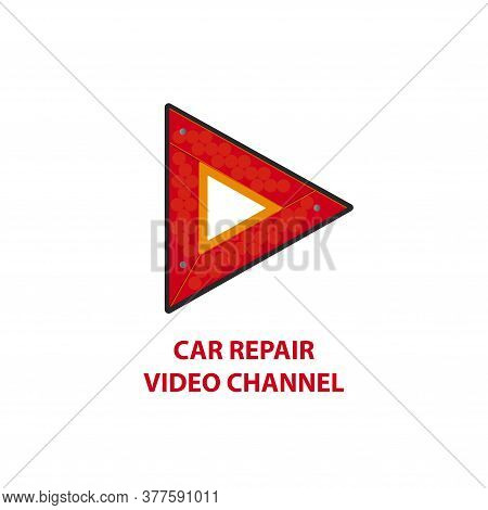 Viideo Channel About Car Repair Logo. Logo Of The Auto Video Channel. Logo Auto Repair Video Channel