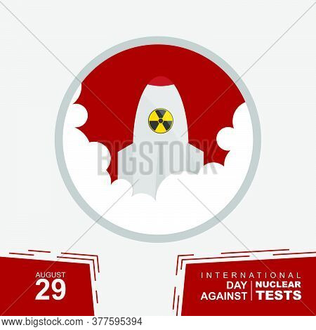 Icon Design Of Nuclear Launch Vector Illustration. Perfect Template For International Day Against Nu