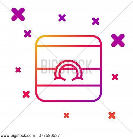 Color Line Wedding Rings Icon Isolated On White Background. Bride And Groom Jewelry Sign. Marriage S