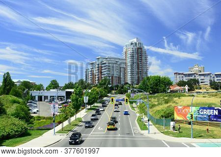 Esquimalt Roadway,victoria Bc,canada,june 29th 2020.esquimalt Road Is A Main Road In Victoria Which