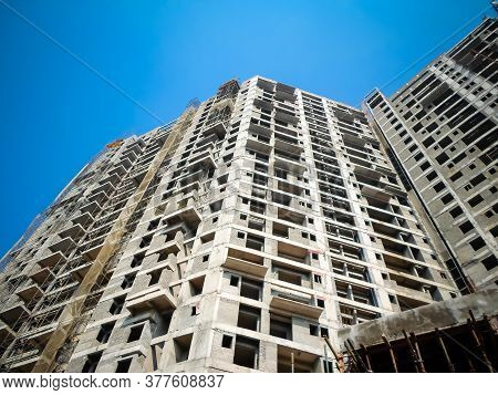 Building Under Construction. New Housing Project. Upcoming Residential Projects Building. Under Cons