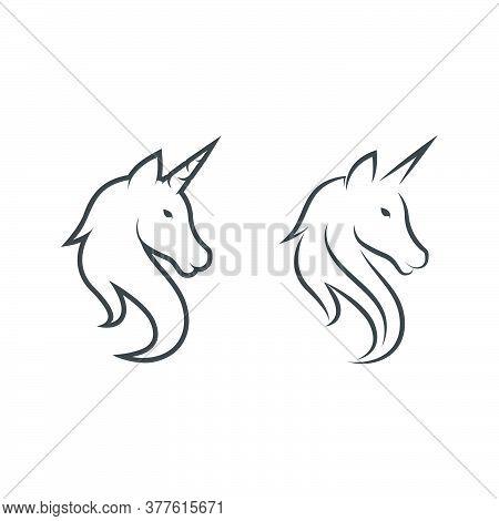 Unicorn Logo Icon Vector Illustration
