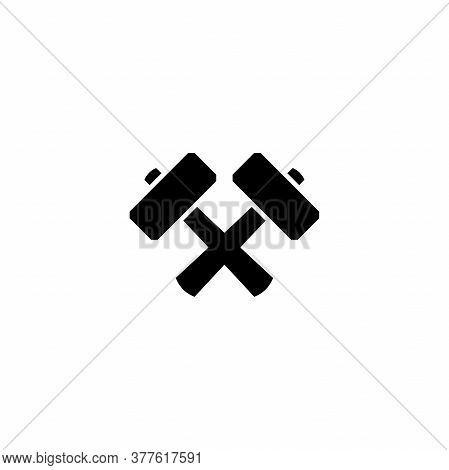 Black Crossed Carpenter Hammers. Handyman, Locksmith, Joiner Claw Hammer