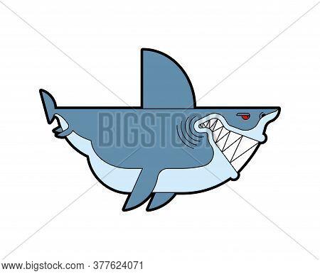 Shark Cartoon Isolated. Sea Animal Predator. Vector Illustration