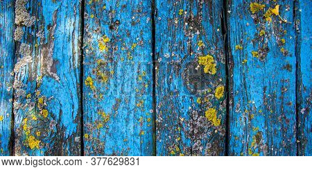 Shabby Wood Background. Old Blue Wood Planks. Concept Image.