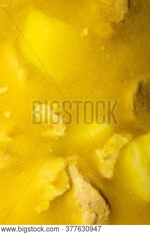 Stewed Potatoes With Meat.background Of Stewed Potatoes.