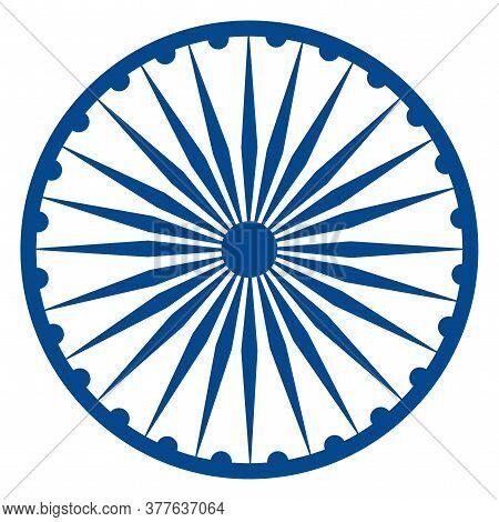 Chakra Ashoka Icon. Flag Of India - Vector