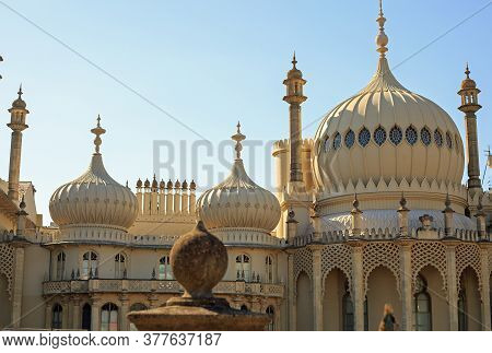 Brighton Pavilion, Uk, 2020. The Pavilion Was Built Between 1787 And 1820 For Various Royals.  It Is